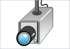 防犯カメラ作動中の貼り紙 フリー貼り紙のペラガミcom