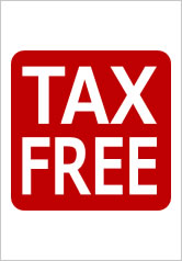 TAXFREEの貼り紙画像